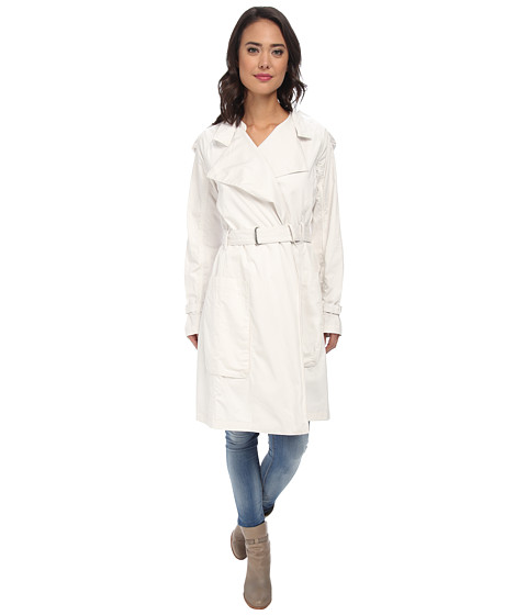 Calvin Klein Jeans - Drapey Oversized Trench Coat (Lattice) Women's Coat