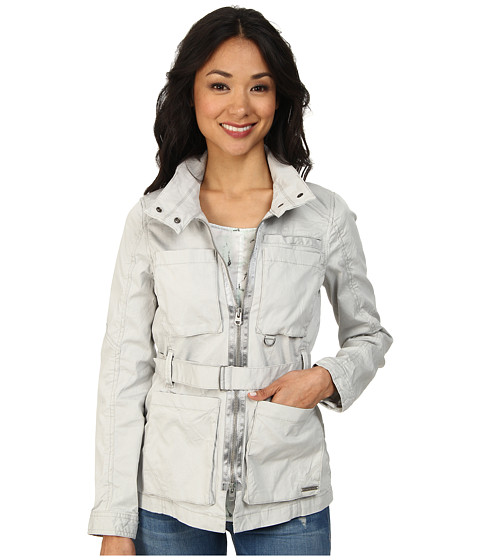Calvin Klein Jeans - Pigment Piece Dye Field Jacket (Pale Smoke) Women's Coat