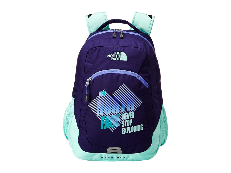 The North Face - Haystack (Starry Purple/Surf Green) Backpack Bags