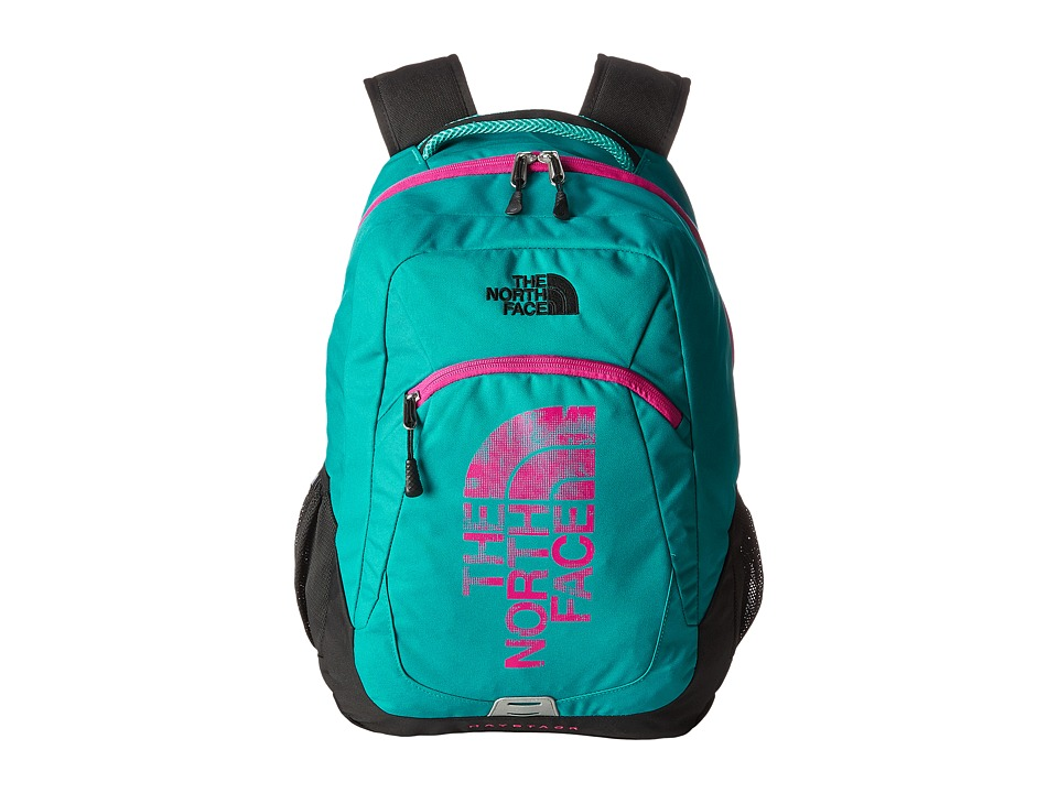 The North Face - Haystack (Kokomo Green/Luminous Pink) Backpack Bags