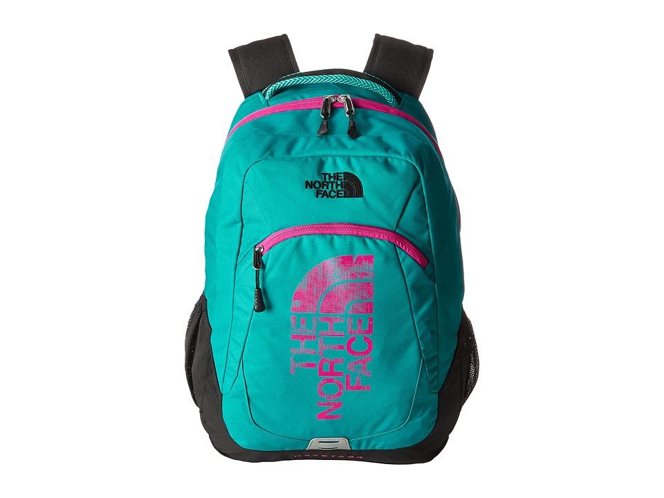 The North Face - Haystack (Kokomo Green/Luminous Pink) Backpack Bags