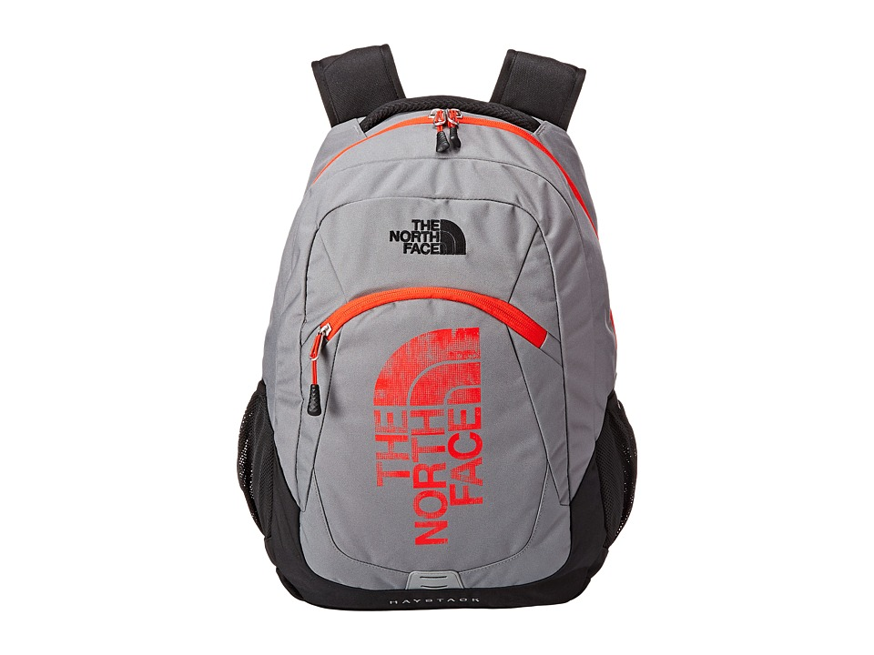 The North Face - Haystack (Zinc Grey/Fiery Red) Backpack Bags