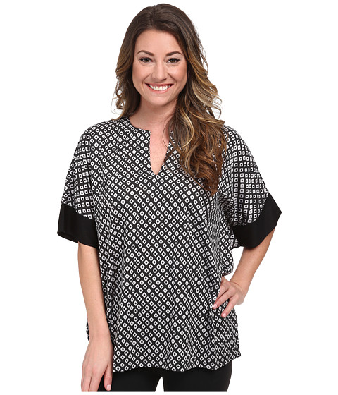 N by Natori - N Natori Tunic Top (Black/Gray) Women