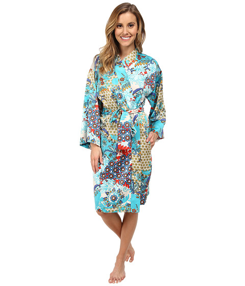 N by Natori - N Natori Wrap (Teal) Women's Robe