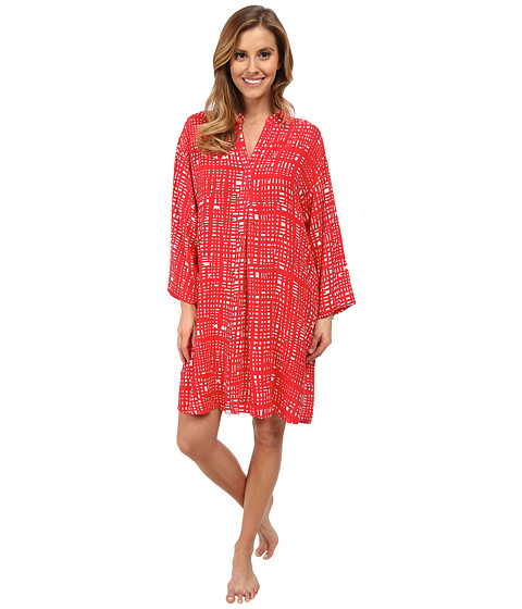 N by Natori - N Natori Mandarin Tunic Top (Cayenne) Women