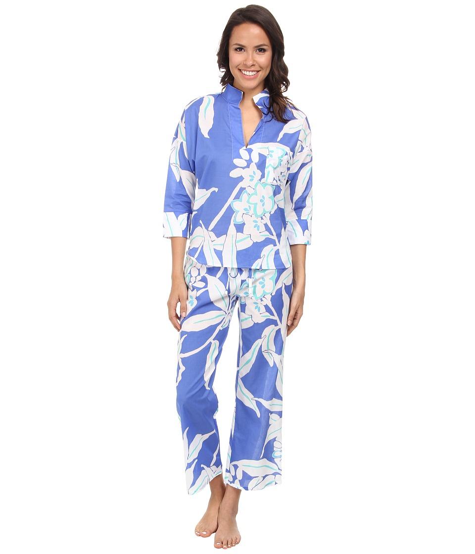 N by Natori - N Natori Pullover PJ Set (Tropical Blue) Women's Pajama Sets