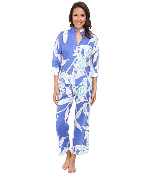 N by Natori - N Natori Pullover PJ Set (Tropical Blue) Women's Pajama Sets