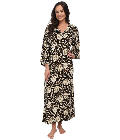 N by Natori - N Natori Zip Caftan (Black) Women