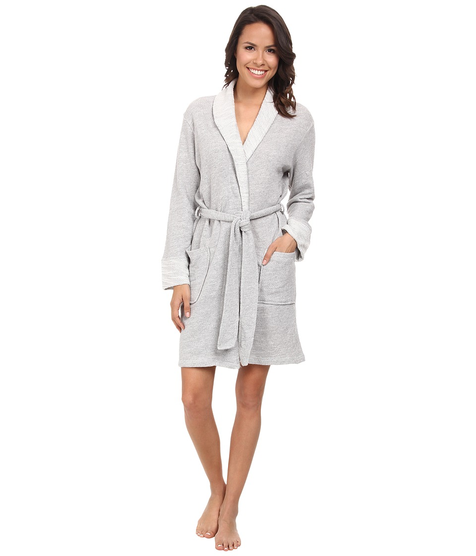 N by Natori - N Natori Shawl Collar Wrap (Heather Grey) Women's Pajama