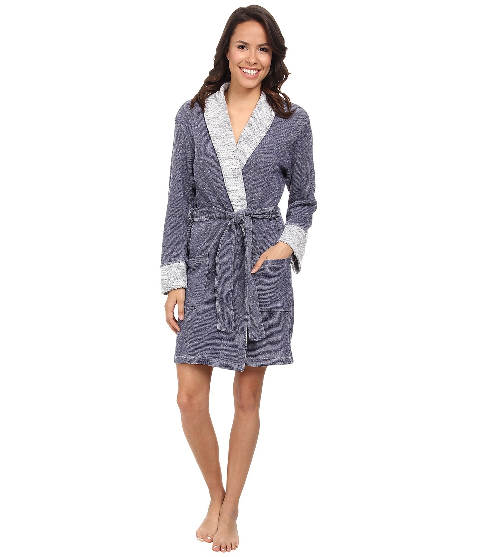 N by Natori - N Natori Shawl Collar Wrap (Blue) Women's Pajama