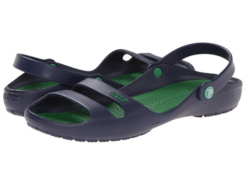 Crocs - Cleo 2 (Nautical Navy/Kelly Green) Women