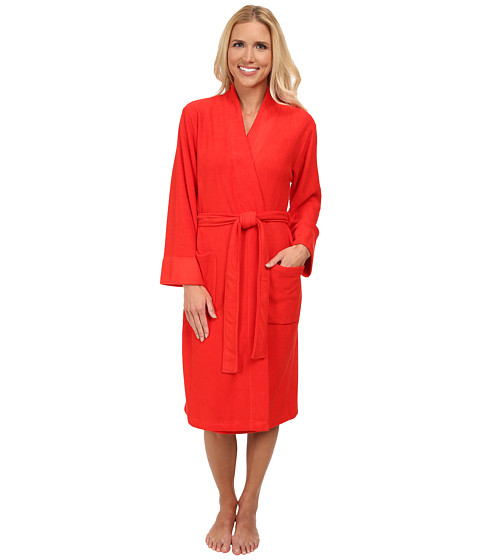 N by Natori - N Natori Brushed Terry Nirvana Robe (Cayenne) Women