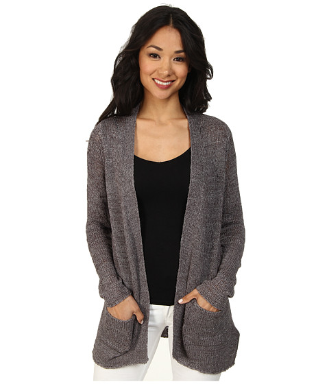 Calvin Klein Jeans - Open Tape Yarn Cardigan (Ebony) Women's Sweater