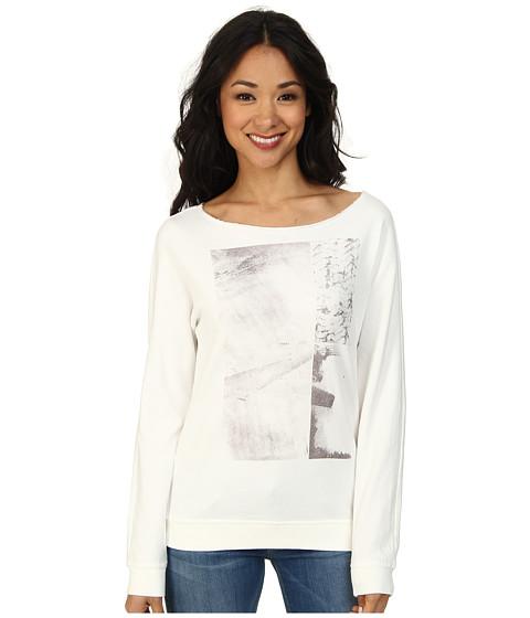 Calvin Klein Jeans - Crew Neck L/S Dolman (White) Women's Long Sleeve Pullover