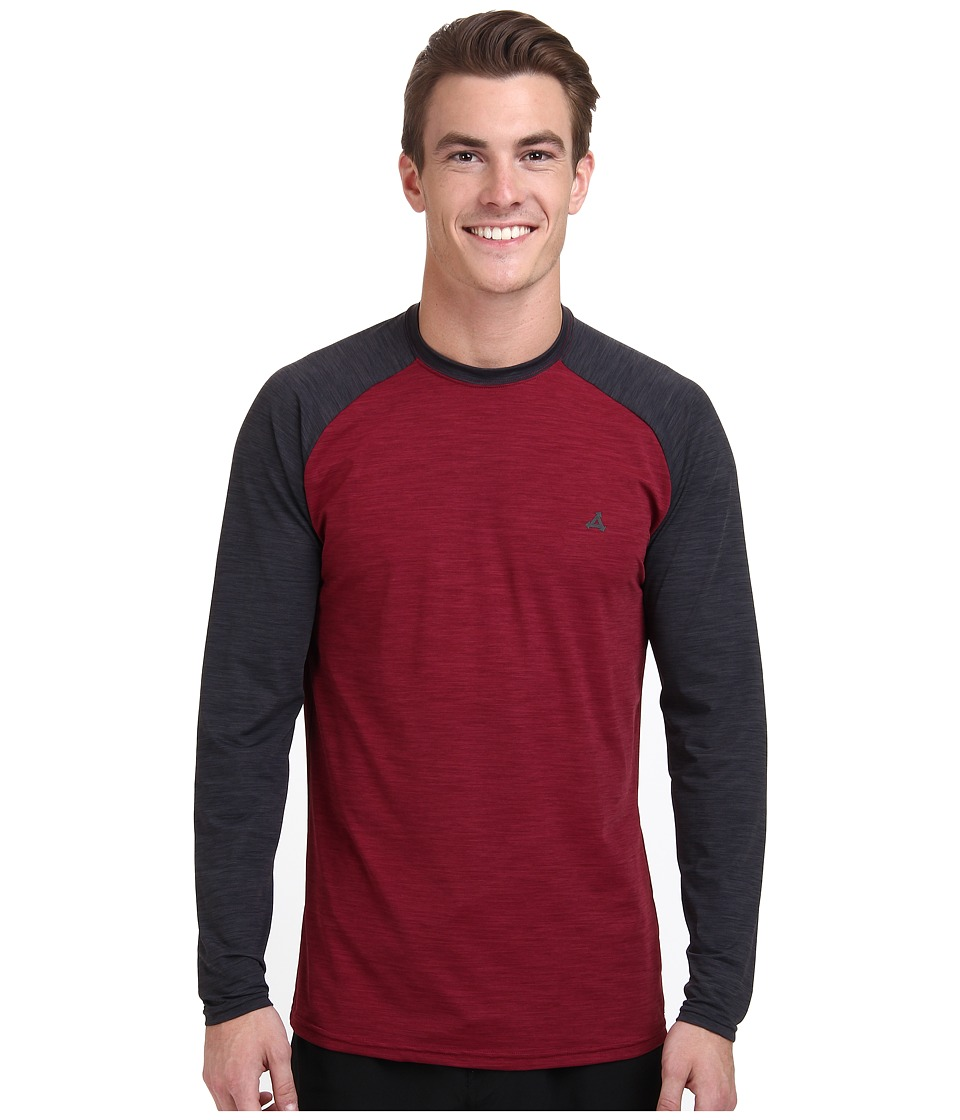 XCEL Wetsuits - Myron 4-Way Series L/S UV (Heather Merlot/Heather Black) Men's T Shirt