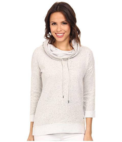 Calvin Klein Jeans - 3/4 Sleeve Funnel Neck Top (Flight) Women's Sweater