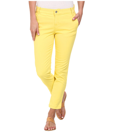 Calvin Klein Jeans - Abbreviated Crop Straight Leg Pant (Tender Yellow) Women's Casual Pants