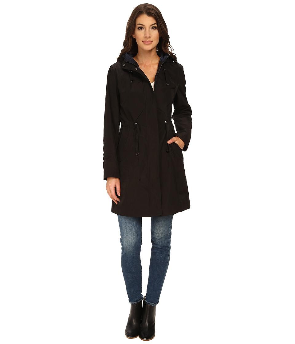 Rainforest - Packable Anorak w/ Contrast Roll Back Cuff (Black) Women's Coat