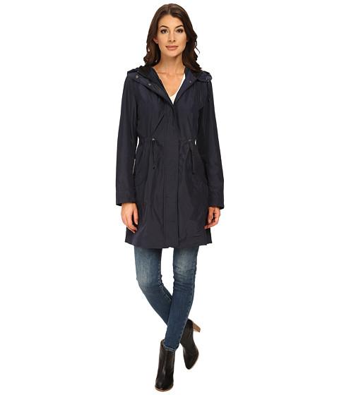 Rainforest - Packable Anorak w/ Contrast Roll Back Cuff (Navy) Women's Coat