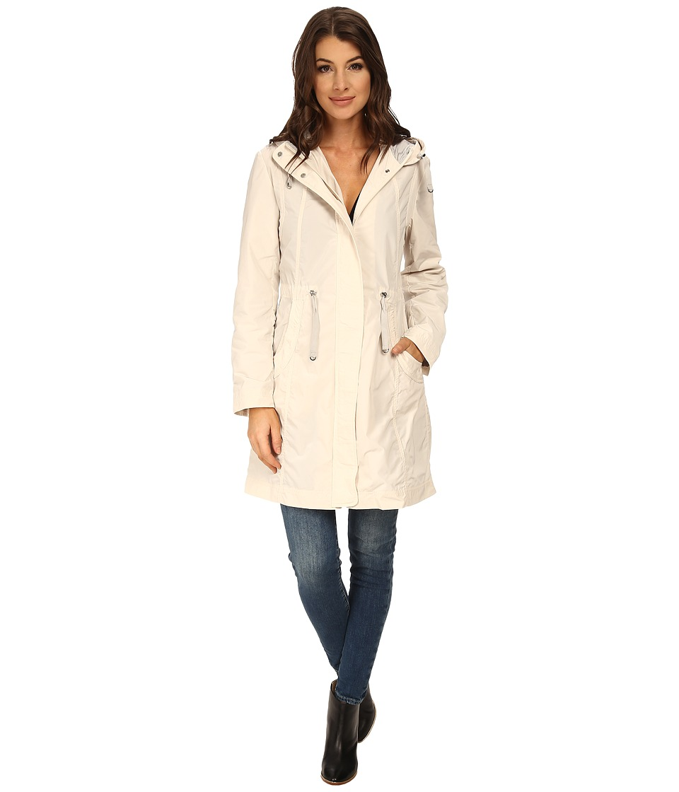 Rainforest - Packable Anorak w/ Contrast Roll Back Cuff (Cream) Women's Coat