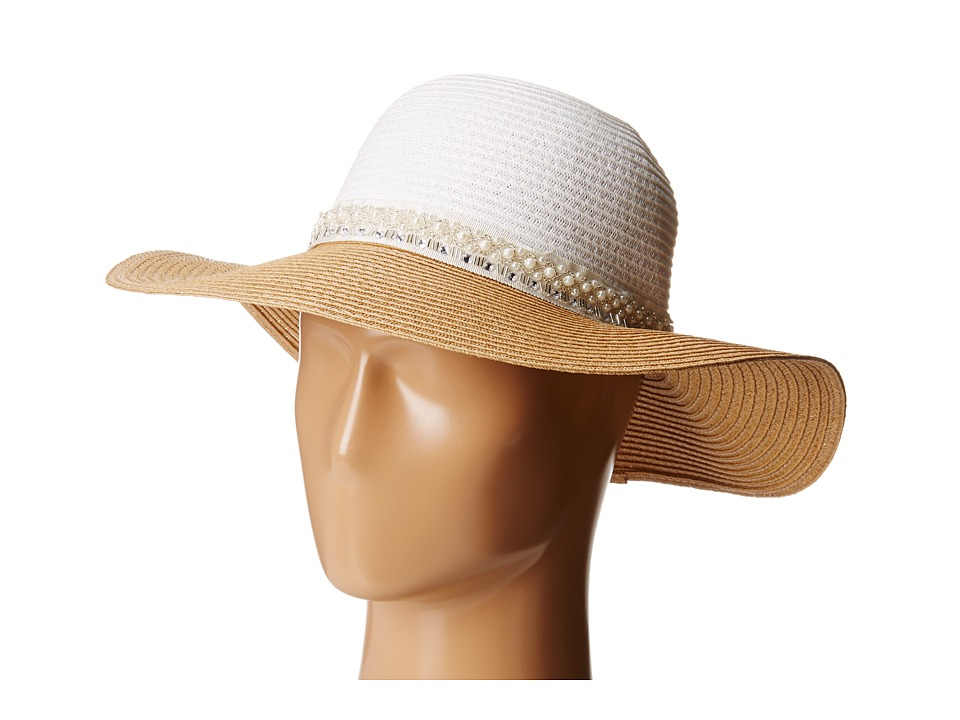 BCBGeneration - Pretty Pearl Floppy (Nautral) Traditional Hats