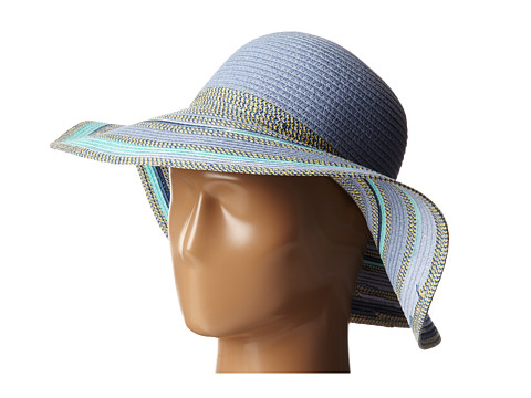 BCBGeneration - Mixed Stripe Floppy (Seaside) Traditional Hats