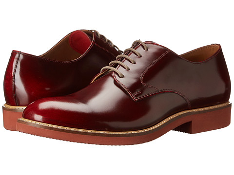 Doucal's - Brushed Plain Toe Oxford (Red) Men's Lace up casual Shoes