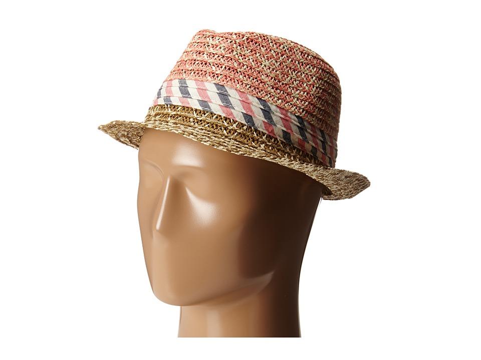 BCBGeneration - Soft Stripe Fedora (Lena Pink) Traditional Hats