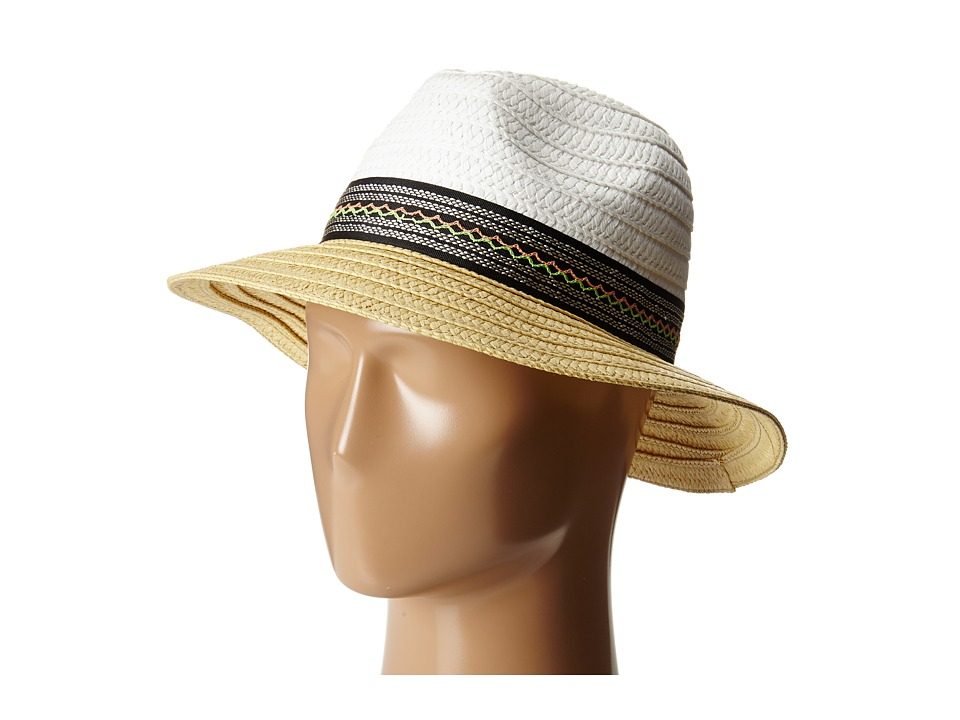 BCBGeneration - Ribbon Panama (White) Traditional Hats