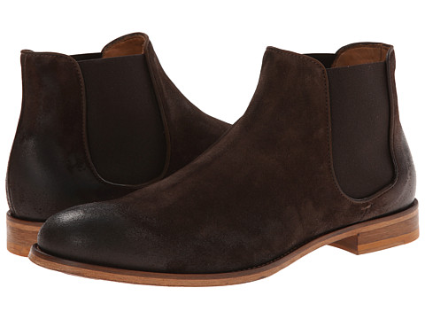 Doucal's - Brushed Suede Chelsea Boot (T. Moro) Men's Boots