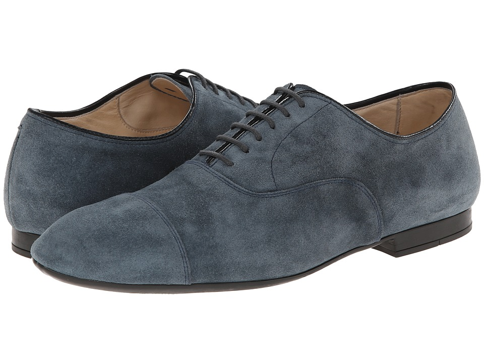 Doucal's - Captoe Suede Oxford (Lago) Men's Lace Up Cap Toe Shoes