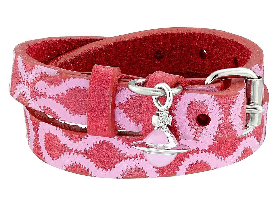 Vivienne Westwood - Squiggle Cuff (Fuchsia/Candy Pink/Rhodium) Bracelet