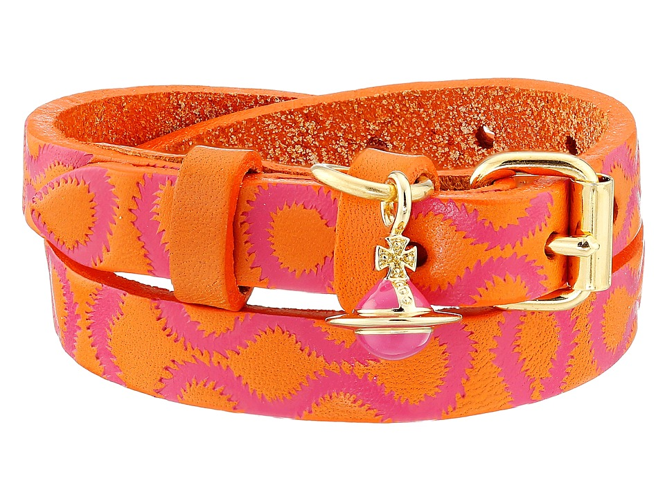 Vivienne Westwood - Squiggle Cuff (Orange/Fuchsia/Yellow Gold) Bracelet