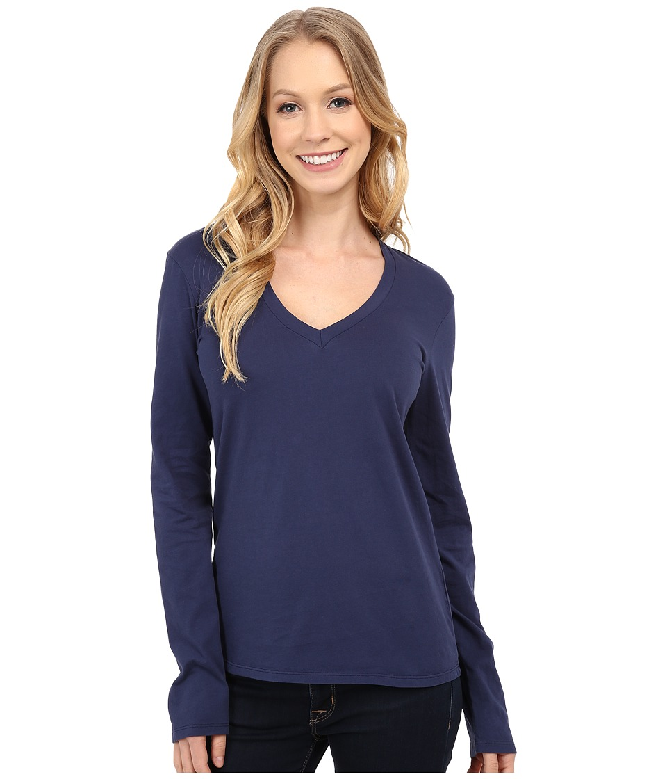 Mod-o-doc - Fitted Long Sleeve V-Neck (New Navy) Women's Clothing