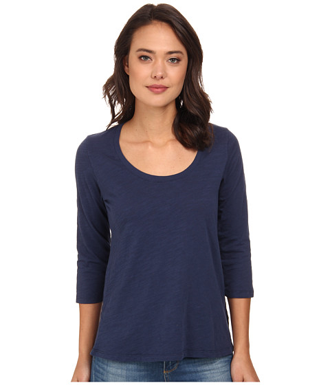 Mod-o-doc - Slub Jersey 3/4 Sleeve Scoop Neck Tee (New Navy) Women