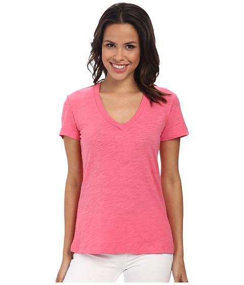 Mod-o-doc - Slub Jersey Short Sleeve V-Neck Tee (Gumdrop) Women's Short Sleeve Pullover