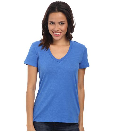 Mod-o-doc - Slub Jersey Short Sleeve V-Neck Tee (Lapis) Women