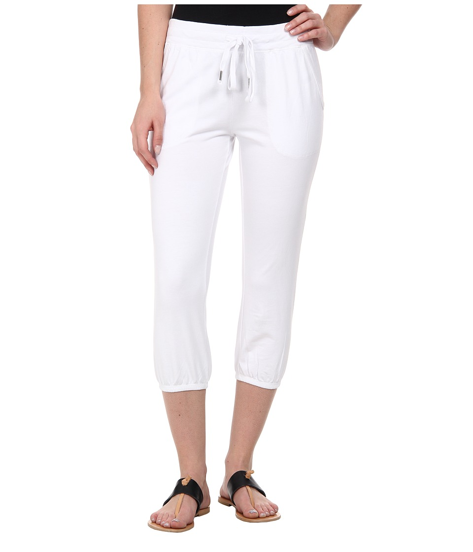 Mod-o-doc - French Terry Capri (White) Women's Capri
