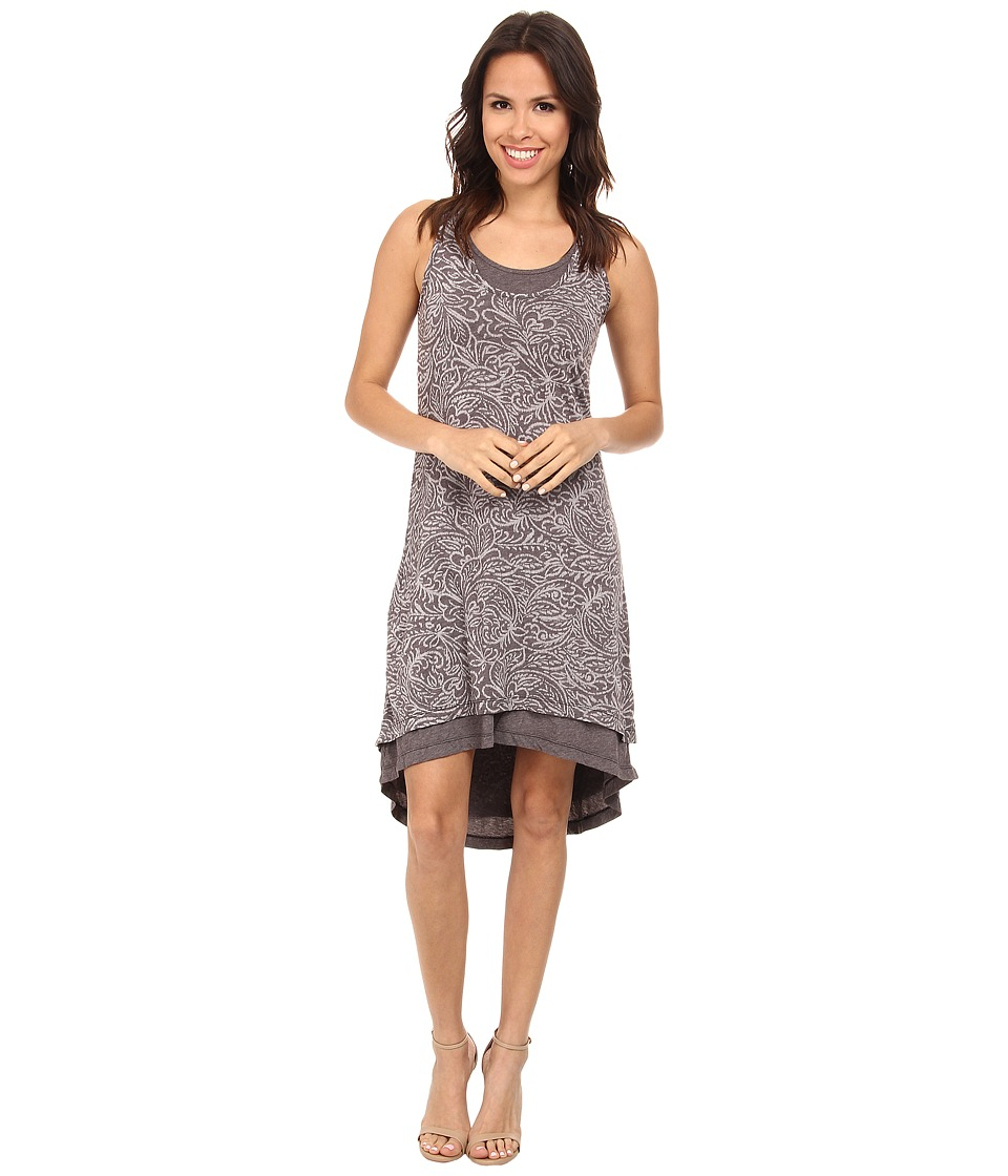 Mod-o-doc - Burnout Jersey Keyhole Back Tank Dress (Cinder) Women's Dress