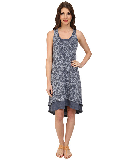 Mod-o-doc - Burnout Jersey Keyhole Back Tank Dress (New Navy) Women