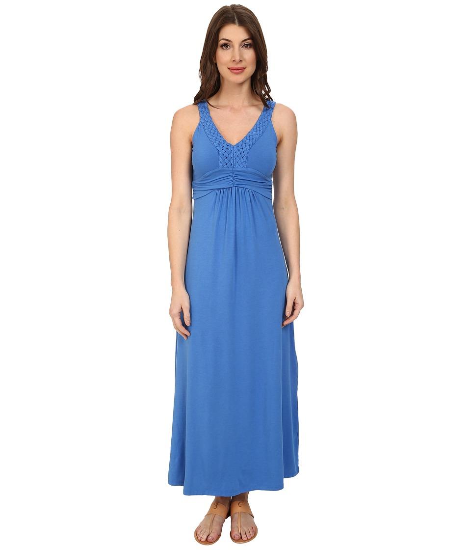 Mod-o-doc - Cotton Modal Jersey Braided Trim Maxi Dress (Lapis) Women