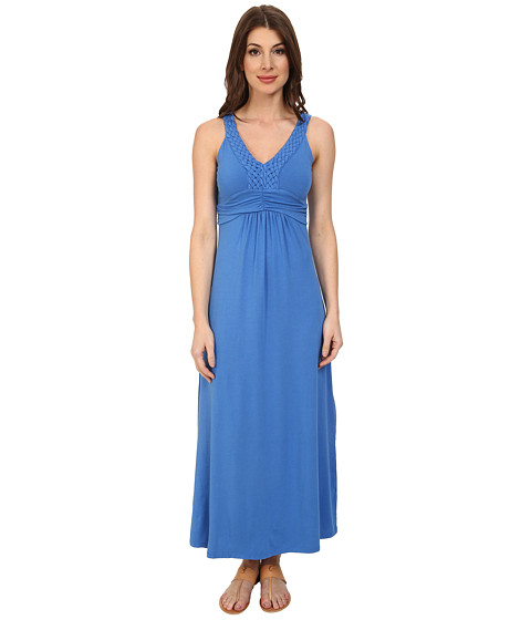 Mod-o-doc - Cotton Modal Jersey Braided Trim Maxi Dress (Lapis) Women