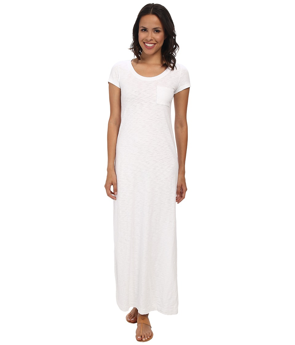Mod-o-doc - Heavier Slub Jersey T-shirt Maxi Dress (White) Women's Dress