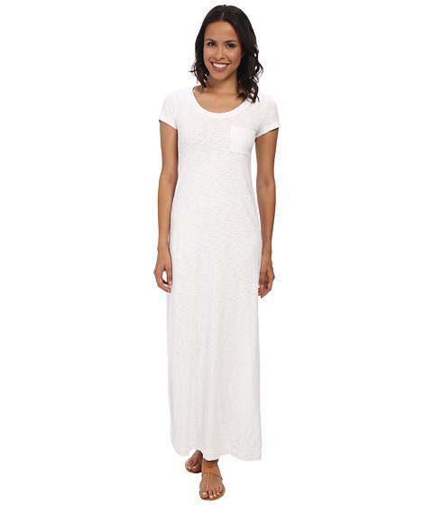 Mod-o-doc - Heavier Slub Jersey T-shirt Maxi Dress (White) Women's Dress
