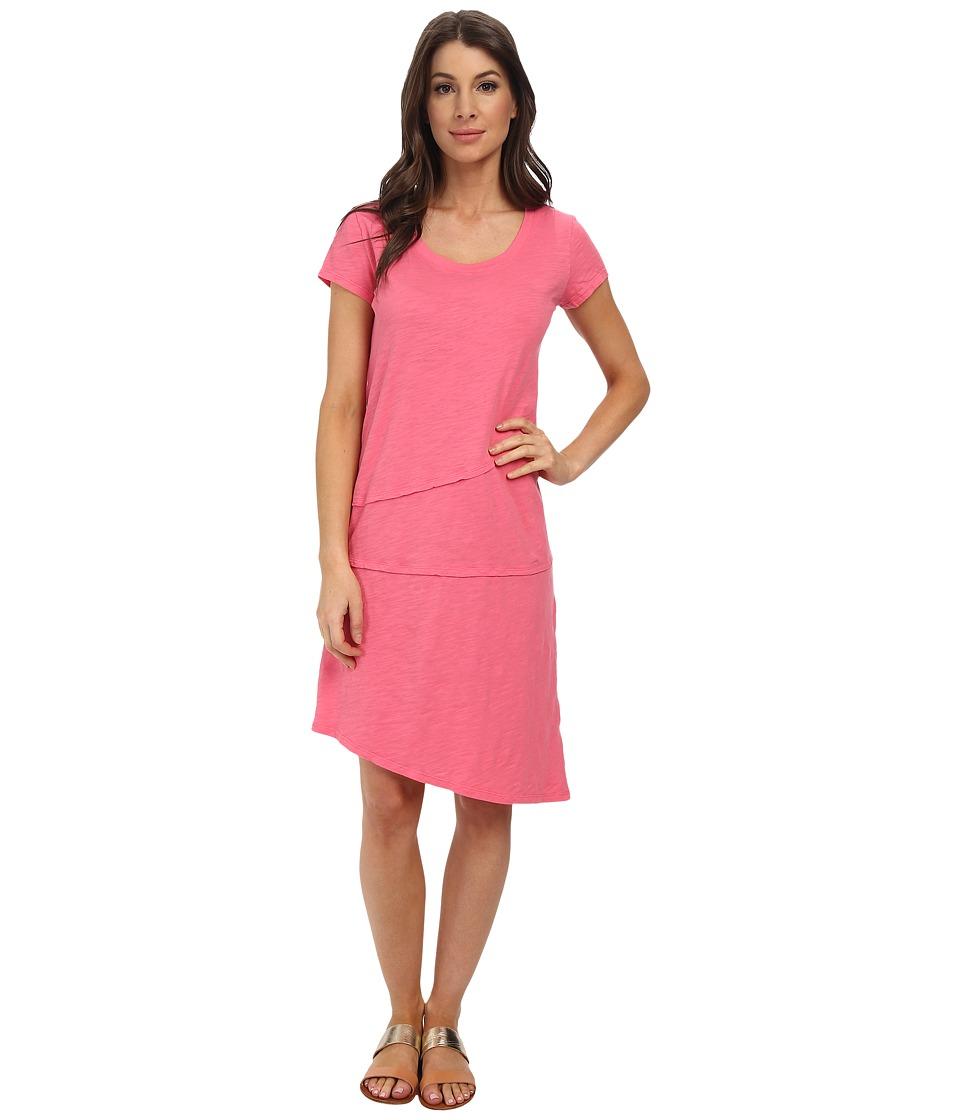 Mod-o-doc Slub Jersey Tiered T-shirt Dress (Gumdrop) Women