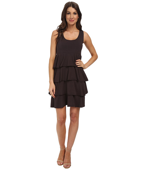 Mod-o-doc - Cotton Modal Spandex Jersey Tiered Tank Dress (Cinder) Women