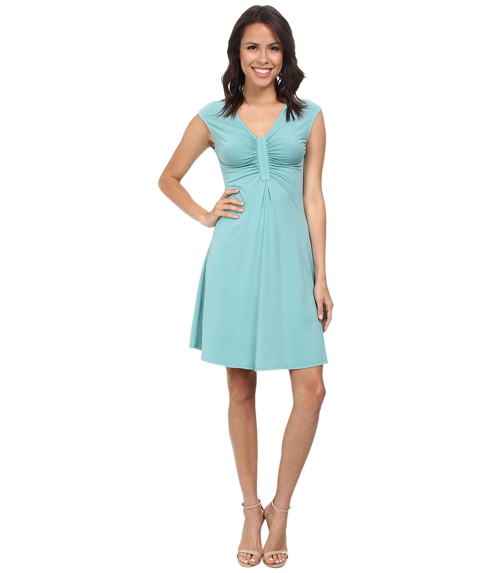 Mod-o-doc Spandex Jersey Shirred Inset Dress (Aegean) Women
