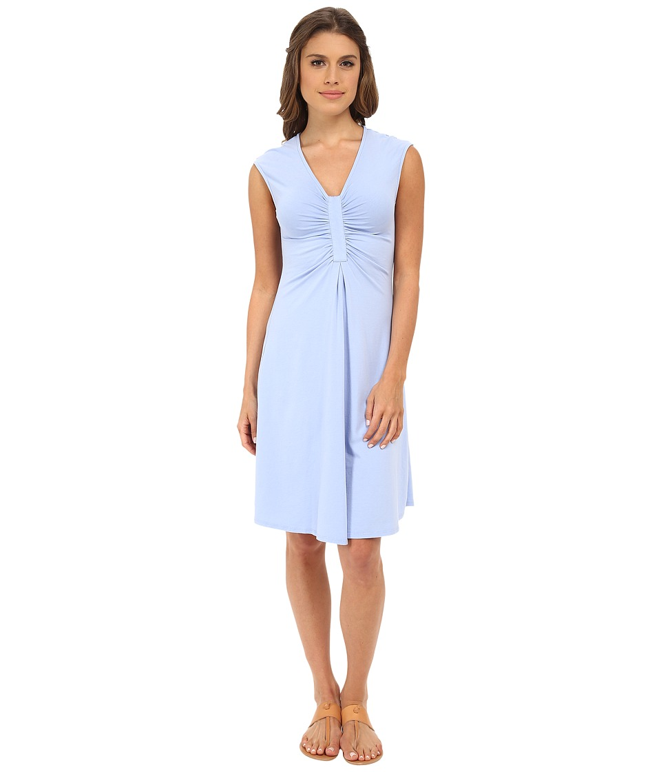 Mod-o-doc Spandex Jersey Shirred Inset Dress (Larkspur) Women