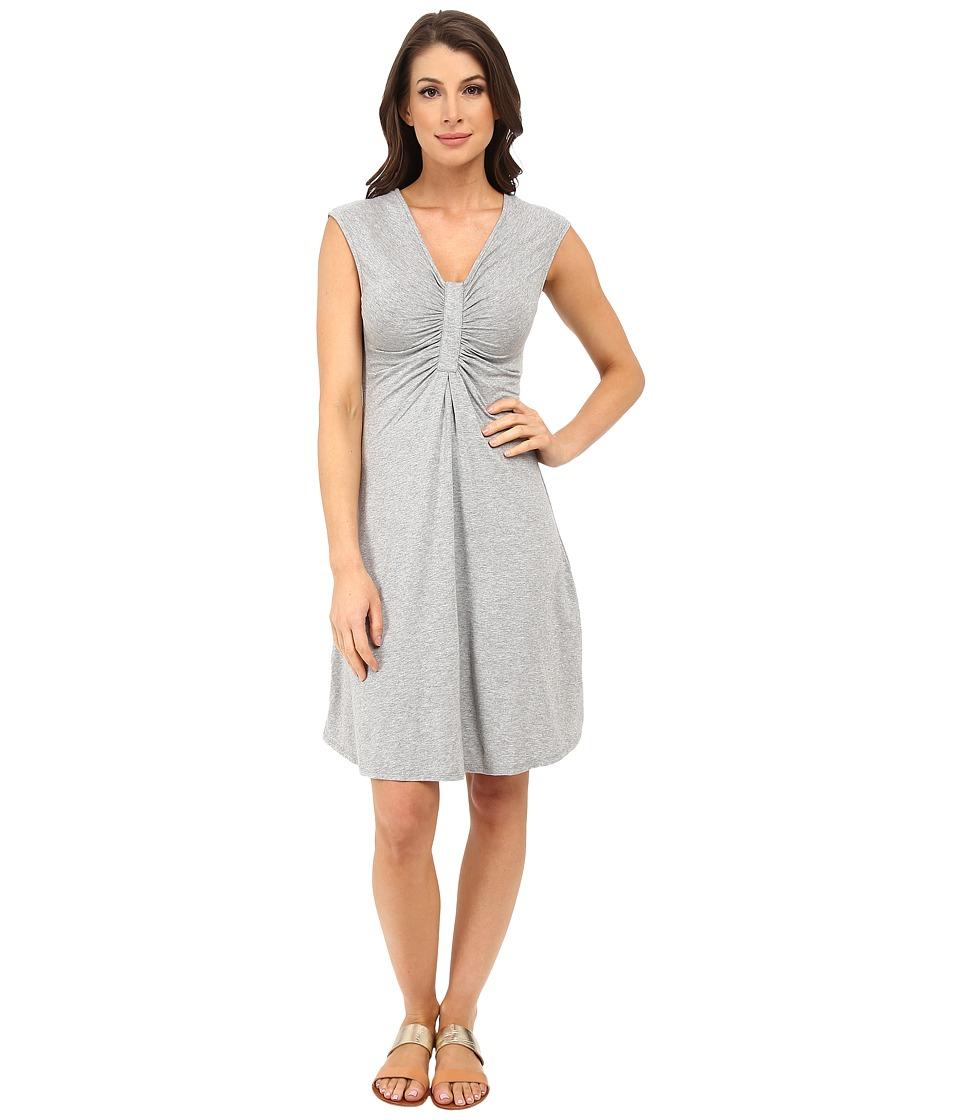 Mod-o-doc Spandex Jersey Shirred Inset Dress (Smoke Heather) Women