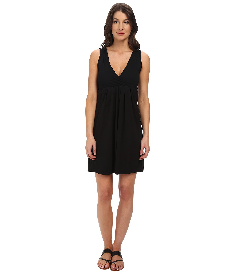Mod-o-doc - Classic Jersey Surplice Empire Seam Tank Dress (Black) Women